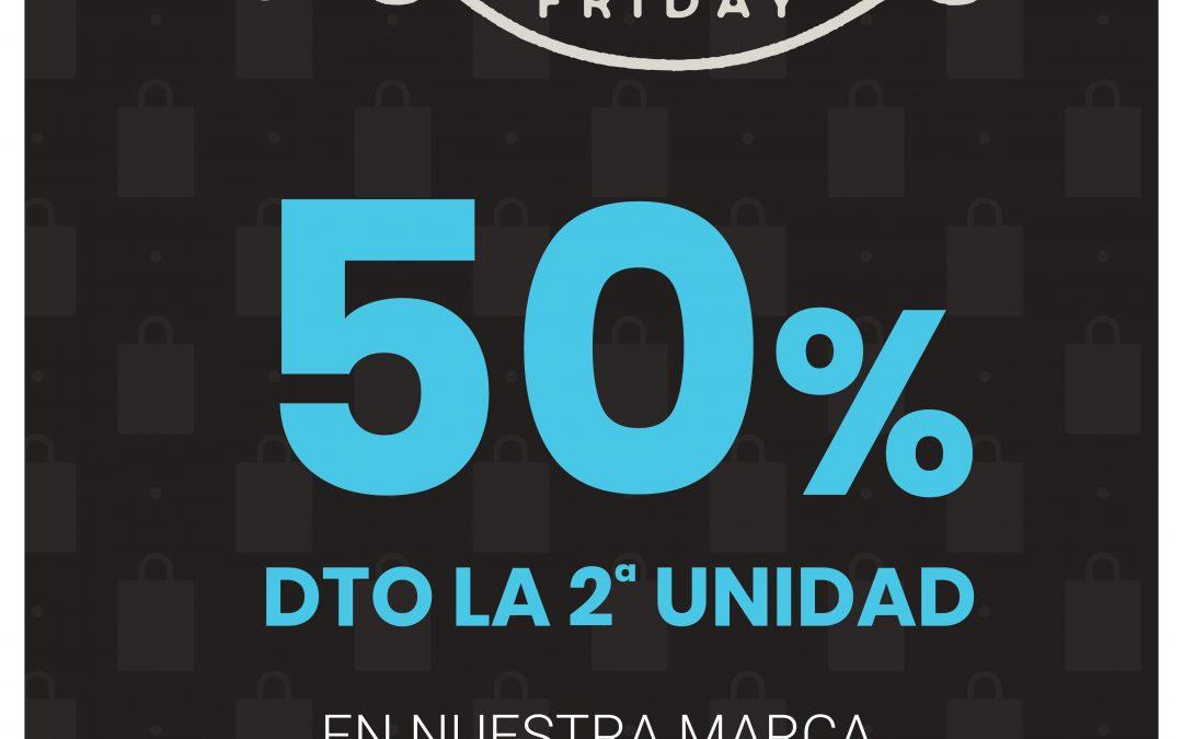 Del 25 de Noviembre al 1 de Diciembre – BLACK FRIDAY 50% descuento la 2ª unidad en nuestra marca de dermocosmética
